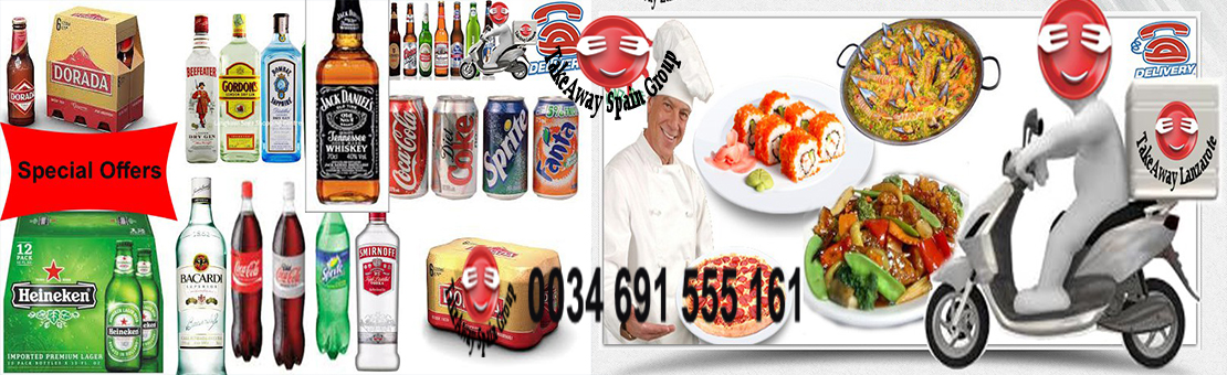 Food Delivery Lanzarote - Drinks Delivery Lanzarote 24H Delivery Service